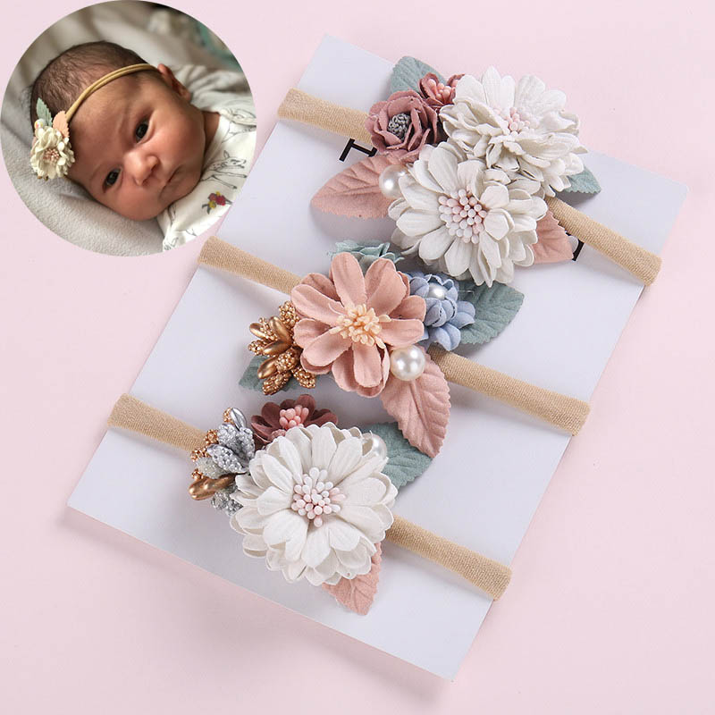Fashion Cute Baby Kid Girls Hair Accessories Elastic Flower Headband Newborn