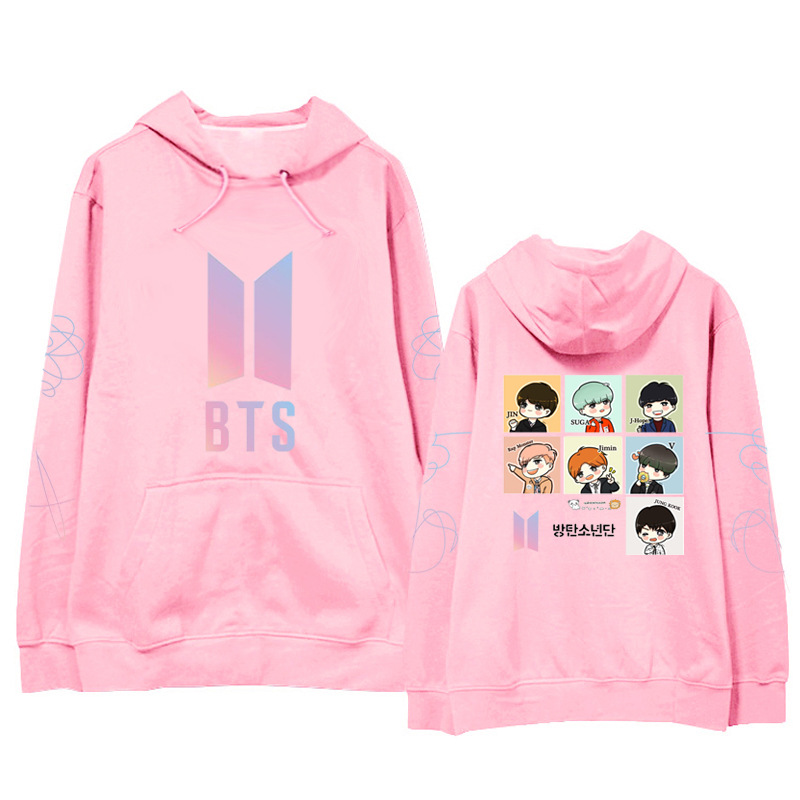 BTS Bulletproof Boys Hoodie New Album LOVE Yourself Cartoon Hoodie Should Aid The Clothes Winter