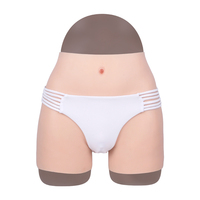 Silicone Panties Insertable Fake Vagina Boxer Hip Enhancer Briefs Tight Underwear for Cosplay Drag Queen Ajusen