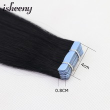 Human Hair Tape In Straight Extensions