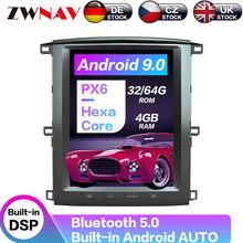 121 дюймов android 9 64 + 4g px6 Вертикальная Тесла с dsp carplay