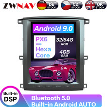 "12.1"" Android 9 64+4G PX6 Vertical Tesla With DSP Carplay Car Multimedia Player For Lexus LX470/TOYOTA Land cruiser LC100 2002 + carplay dsp android 9 0 px6 vertical tesla radio car multimedia player stereo gps navigation for land cruiser lc100 2002 2007"