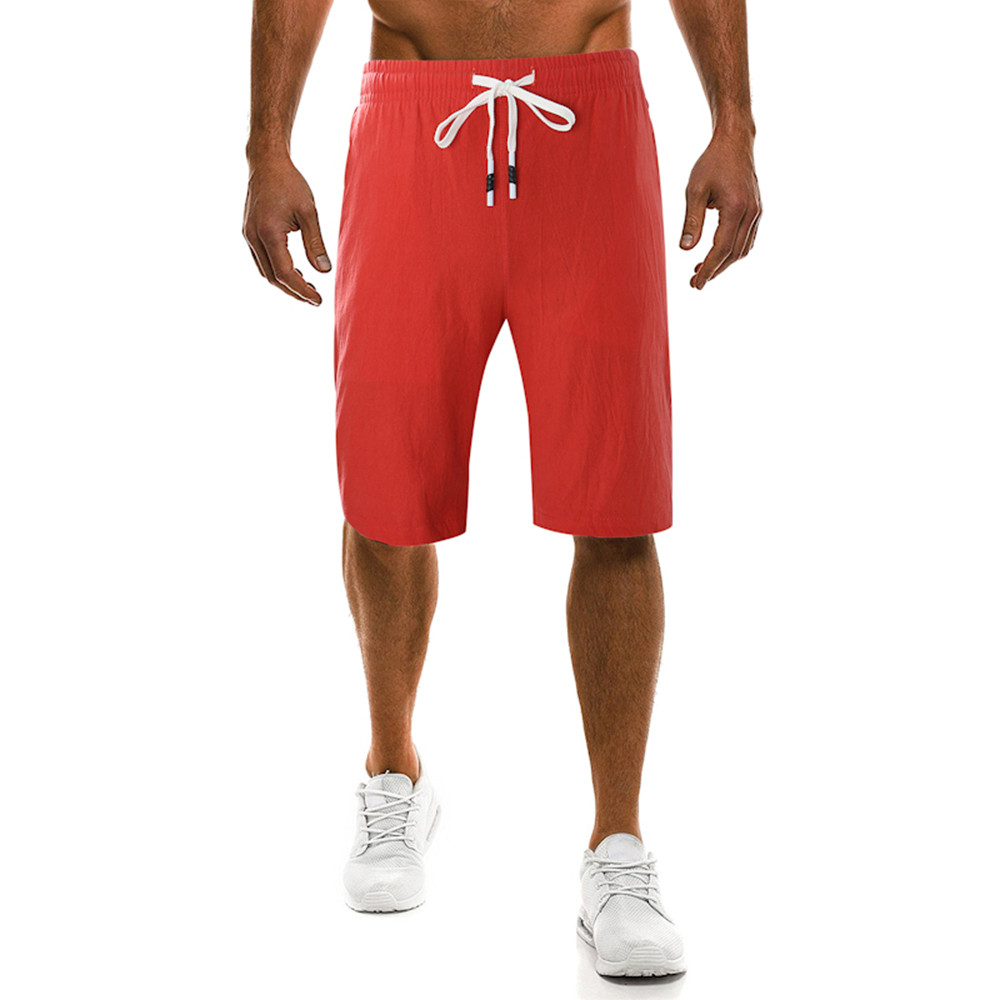 2019 New Men's Summer Trend Casual Slim Cropped Shorts Without Pattern Multiple Colors With XL Style