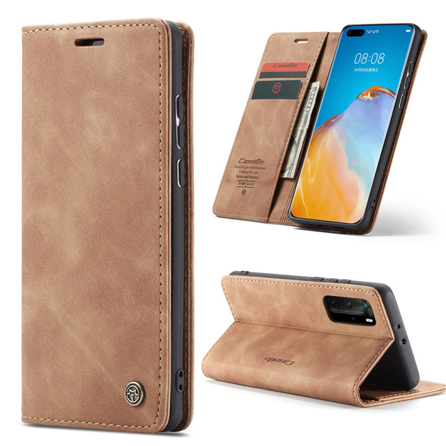 Leather Magnetic Flip Case For Huawei P40 P30 P20 Lite Pro Psmart nova 7i Mate 30 5G 4G Case Wallet Book Card Holder Stand Cover