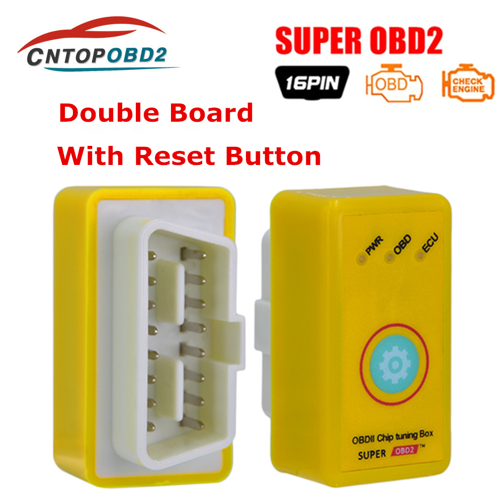 All-in-one Super OBD For Benzine Diesel OBD2 Interface Power Increase Fuel Reduce Saver 2 In 1 Nitro OBD2 ECO OBD2 Free Shipping