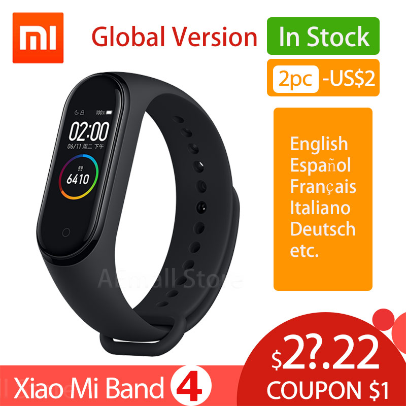 Global Version Xiaomi Mi Band 4 Smart Watch Wristband Miband 4 
