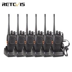 6 шт. Walkie Talkie Retevis H777 УВЧ 400-470 МГц Частота Портативный Радиолюбителей Кв Трансивер Радио Коммуникатор Удобно Telsiz A9105
