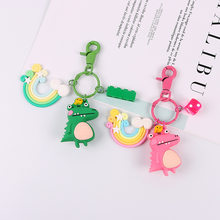 Newest Kpop Cartoon Cute Keychain Small Crocodile Bag pendant Cute Backpack Ornaments Anime Keyring Boyfriend gift Accesorios mujer(China)