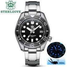 STEELDIVE 1968 SKX001 automatyczny zegarek mężczyźni niezdefiniowany zegarek nurkowy 300M C3 zegarek świetlny mężczyźni automatyczne NH35A mechaniczne zegarki mężczyźni