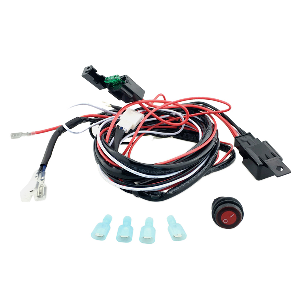 OFF Switch Relay Harness For LED Work Lights Bar Wiring Harness Kit 12V 40A ON