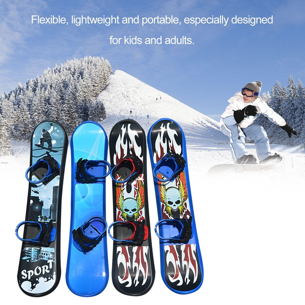 2019 Outdoor Sports 95/110/128CM Plastic Style Single Board Two-way Snow Grass Sand Board For Children & Adults