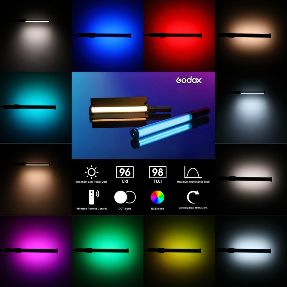 GODOX LC500R RGB Full Color Handheld LED Light Sticks 2500K 8500K CRI >95  Remote Control Lithium Battery for Video Photography Photographic Lighting   - AliExpress