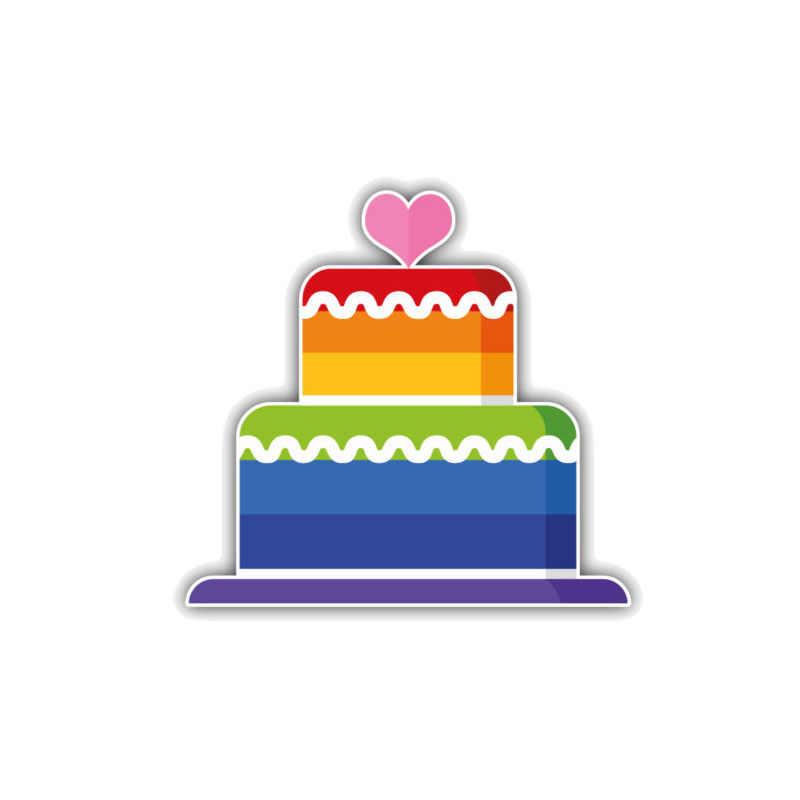 Aliauto Mobil Lucu Stiker Kue Gay Rainbow Auto Menghias PVC Stiker Penutup Goresan untuk Sepeda Motor Honda Touran Mazda 11 Cm * 10 Cm