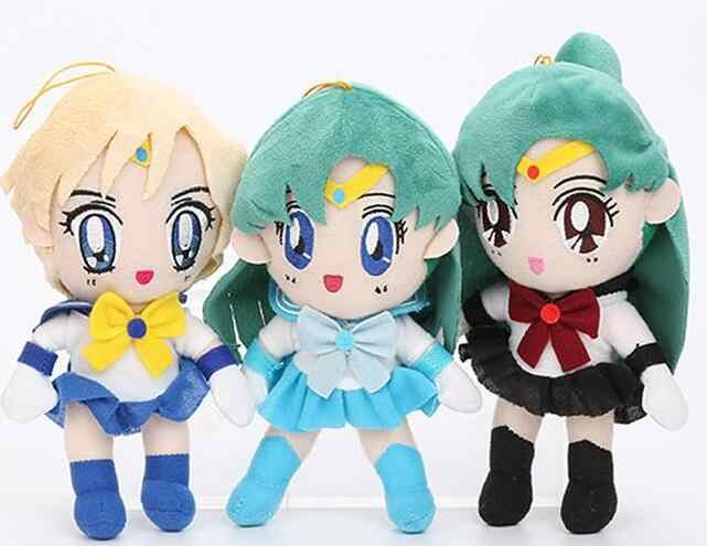 9 Pcs Mooie Anime Sailor Moon Pluche Doll Knuffel Cosplay Prop Home Decor Voor Vrouwen Meisje Kerstcadeau 20cm