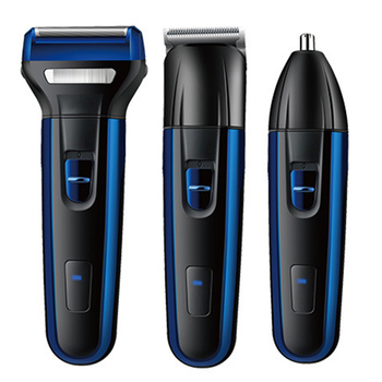 Professional 3-In-1 Electric Hair Clipper Set Multi-Purpose USB Rechargeable Sideburns Beard Nose Hair Trimmer Grooming Kit