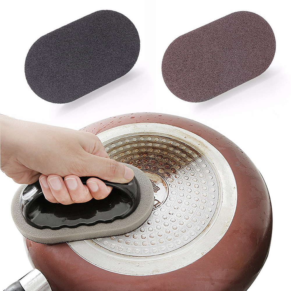 Emery Sponge With Handle Cleaning Brush Nano Magic Clean Wipe Stain-Remove Hot !