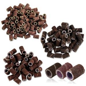 Image 3 - 50pcs/lot Sanding Bands Sleeves Electric Polishing Sandpaper circle Sand Nail Art Drill File Salon Tips Tools Dremel Accessories