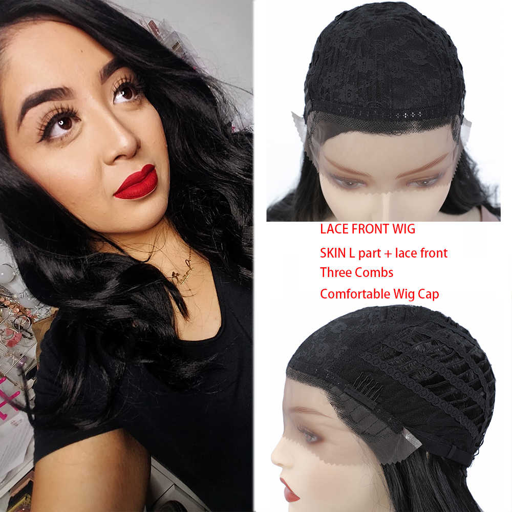 Ombre marrom loira rosa perucas sintéticas frente do laço longo corpo onda lado parte azul cinza cosplay peruca de cabelo X-TRESS africano