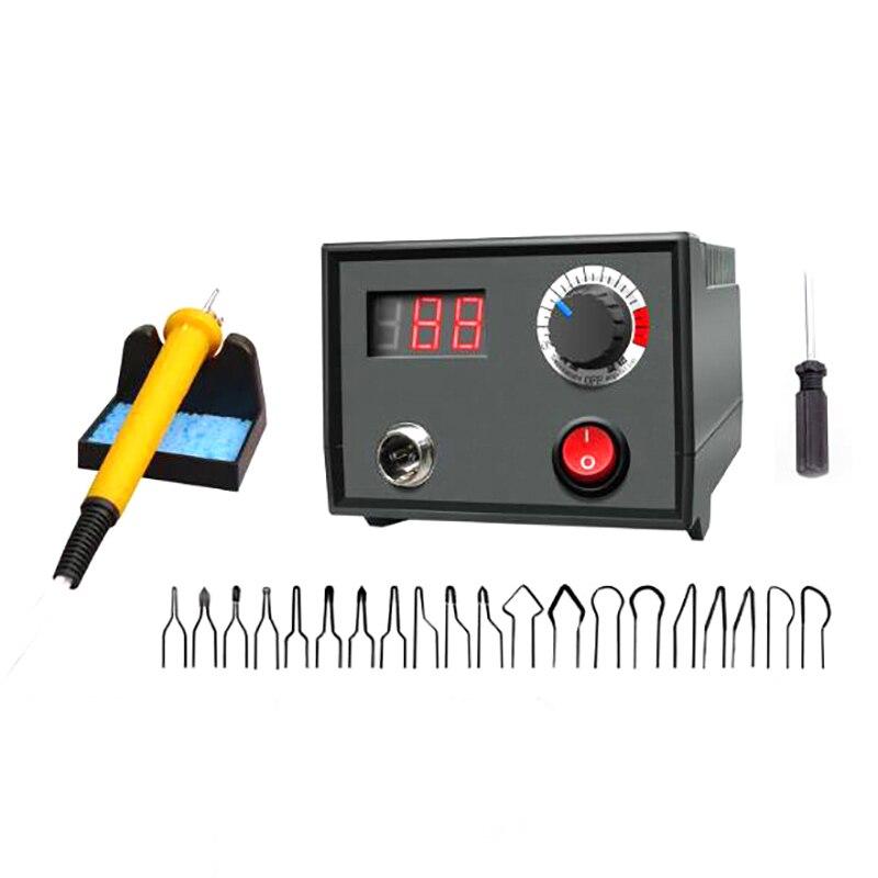 EU Plug 220V Thermostat Wood Burner Burner Brush Burner Hoist Craft Tool Set