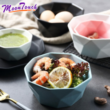 8- ceramic creative salad bowl fruit home noodle soup dessert breakfast rice matte frosted northern Europe