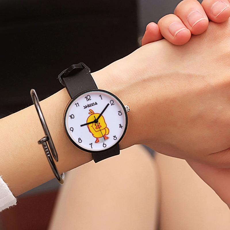 For School Student Wrist Watches For Young Boy Girl Quartz Clock Waterproof Kids Hour Cool Duck Children's Watch Cartoon XX3074