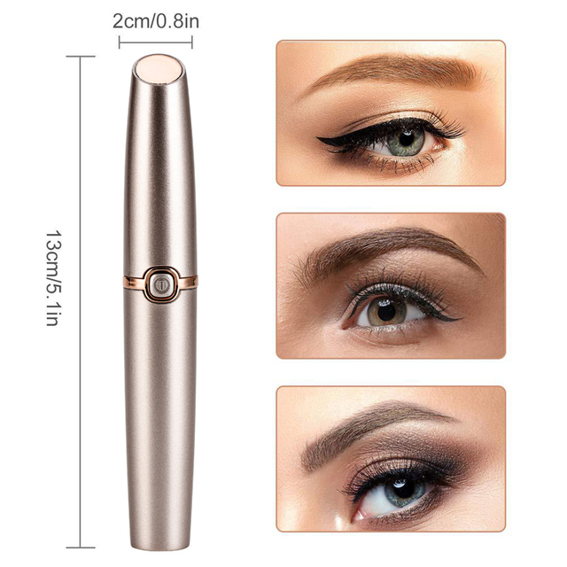 Electric Eyebrow Trimmer  Mini Lip Hair Epilator Painless Shaver Eye Brow Epilator Makeup Portable Facial Hair Remover Female 4