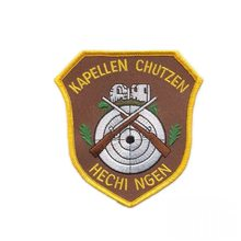 Custom Embroidered Patch Iron On Sew Shield patches Military Challenge Badge Welcome to customize with logo design(China)