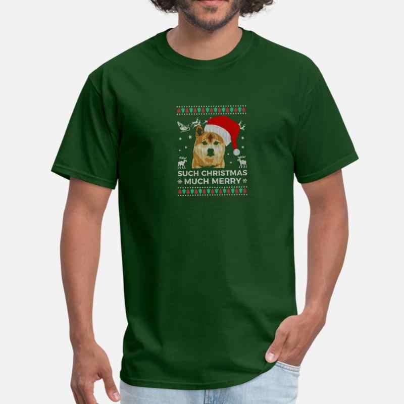 Ontwerp Lelijke Trui Kerst Veel Merry Grappig Doge T-shirt Vrouwen O-hals Humoristische Mens Tshirt Plus Size S-5xl Mannelijke tee Tops