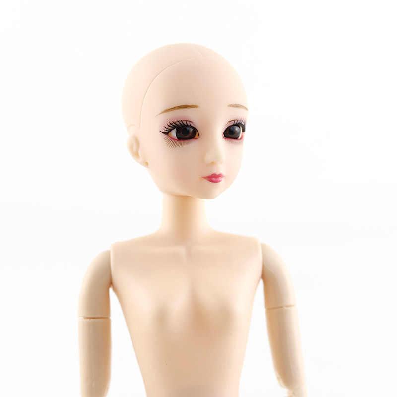 Шарнирная кукла 30 см, шарнирная кукла с 20 движущимися суставами, с синими, фиолетовыми, черными глазами, красивая модная кукла тела с длинными прямыми вьющимися волосами, подарок для девочки