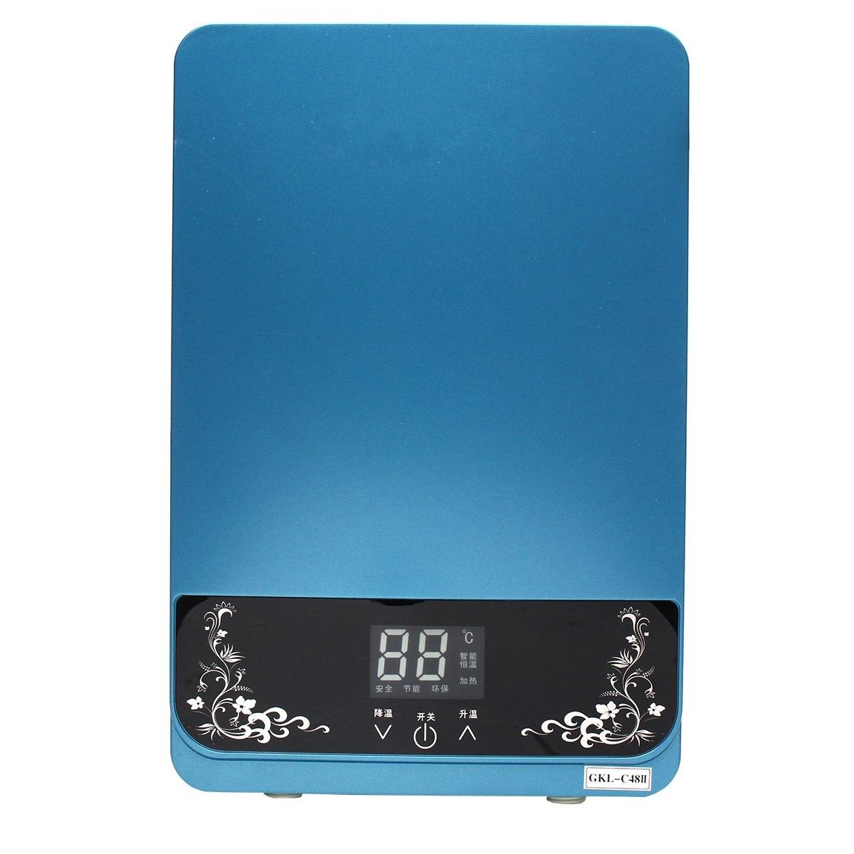 Calentador de agua eléctrico instantáneo 5500W calentador de agua eléctrico instantáneo ducha calentador de agua cocina baño calentador de agua - 6