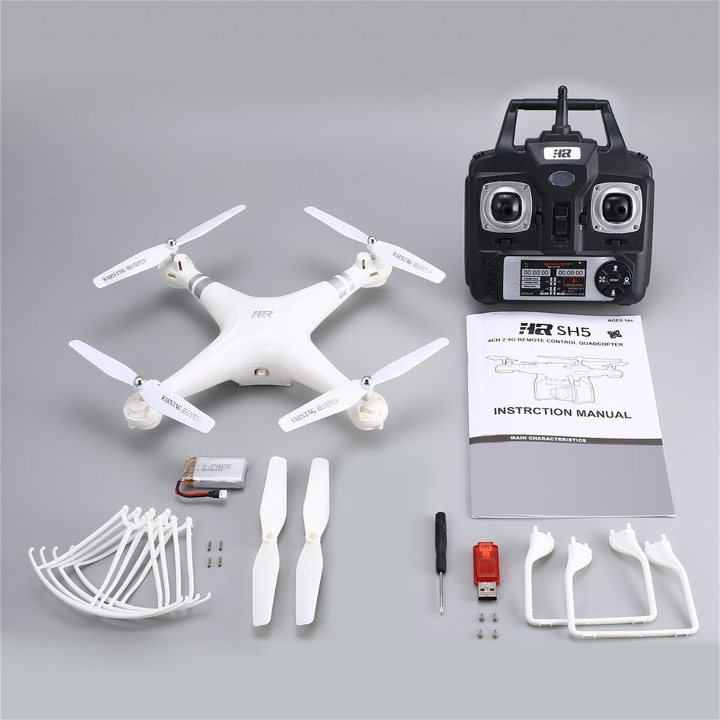 2019 SH5H 2.4G 4CH Smart Drone RC Quadcopter With Altitude Hold Headless Mode One Key Return LED Light Control Speed VS Syma X5
