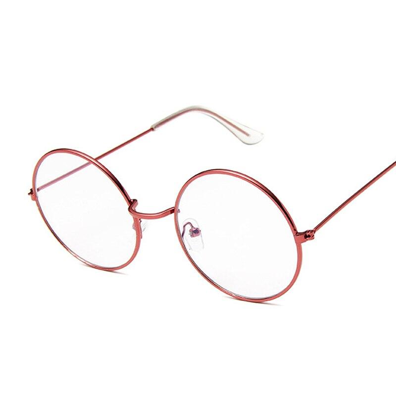 Round Glasses Frame Woman Men Glasses Retro Myopia Optical Frames Metal Clear Lens Black Silver Gold Eyeglasses Oculos