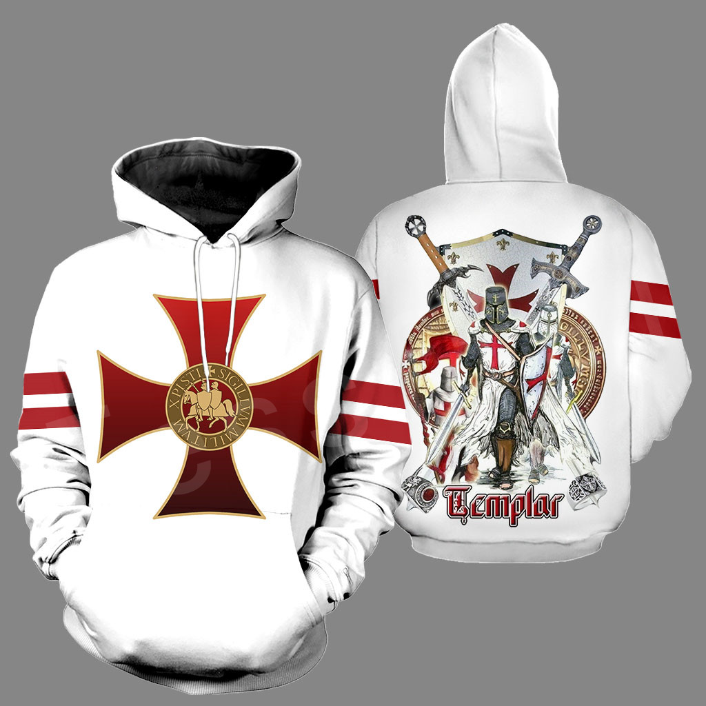 Tessffel Knight Templar Armor Pullover NewFashion Harajuku Tracksuit Casual 3DPrint Zip/Hoodies/Sweatshirts/Jacket/Men/Women A-1