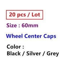 20 штук 60 мм серый черный, серебристый цвет 3D крышка колесных дисков пылезащитные Чехлы для Citroen Центр колеса Колпаки Ступицы логотип стайлин...