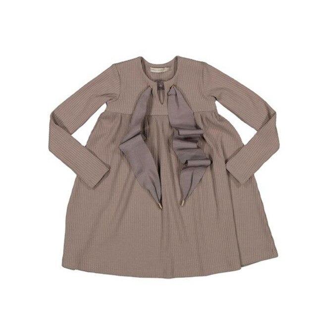 Toddler Girl Dresses Carbon Soldier New Autumn Winter Wholesale Lots Bulk Clothes Princess Boutique Kids Clothing Baby Dress 6
