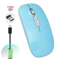 2019 bezprzewodowa mysz usb wymagalna cisza ergonomiczna konstrukcja mysz optyczna Laptop Game Player h-best