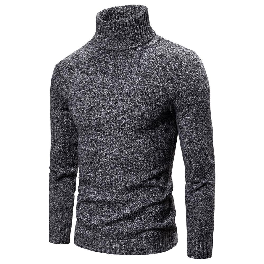 NEGIZBER 2019 Winter Pullovers Men Sweater Solid Slim Fit Turtleneck Sweaters Men Fashion Warm Thick Mens Sweaters Pull Men