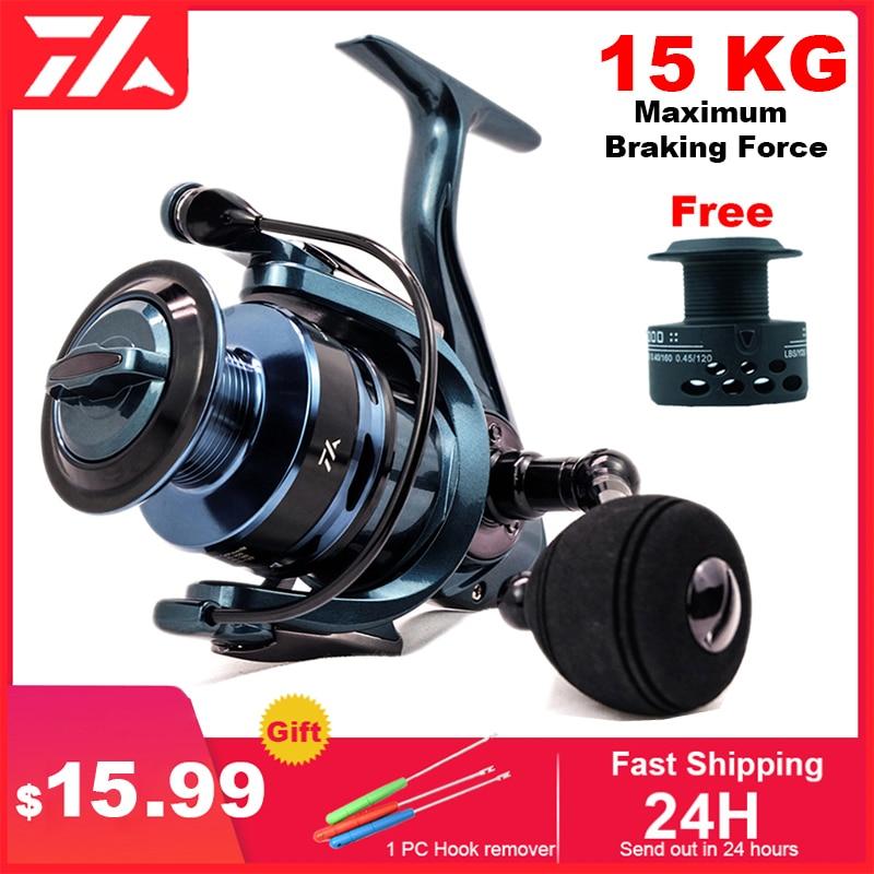 NEW High Quality Fishing Reel 14+1 BB Double Spool Spinning Reel 5.5:1 Gear Ratio High Speed Spinning Reel Carp Fishing Reels