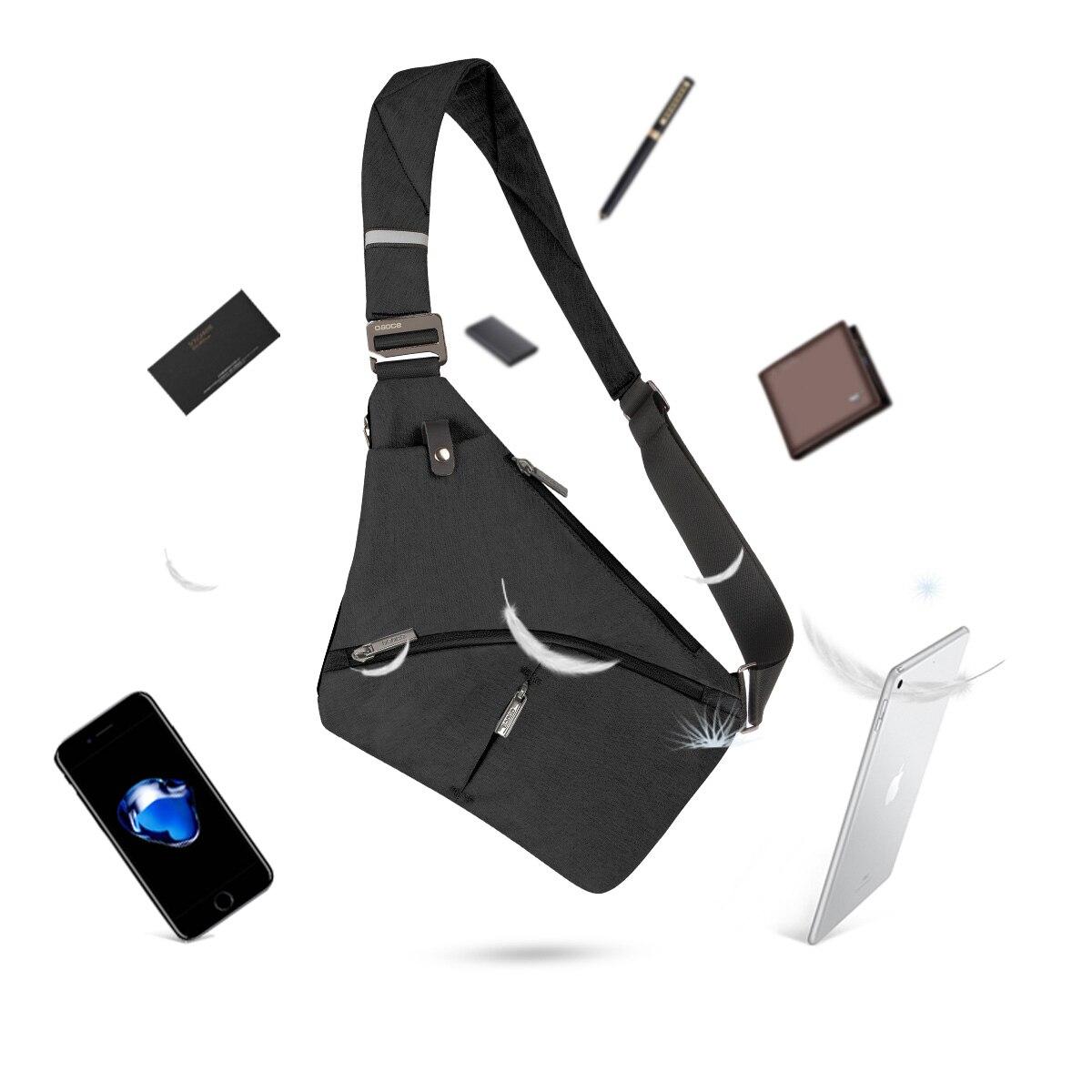 Anti-Theft Crossbody Bag Shoulder Bag Sling Chest bag Waterproof Cover Pack Rucksack Bicycle Sport 3