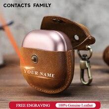접촉식 가족 보호 커버 케이스, 삼성 갤럭시 버드 라이브 케이스 정품 가죽 헤드셋 이어폰 액세서리 키 체인