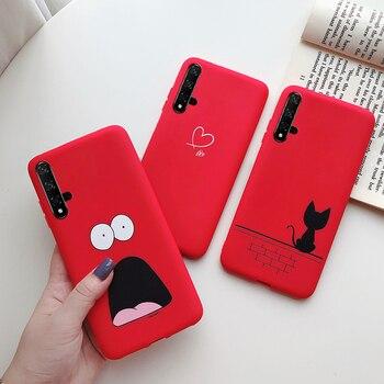 Перейти на Алиэкспресс и купить Милый чехол Love Heart для Huawei Honor 20, силиконовый мягкий чехол из ТПУ для телефона, чехлы для Huawei Nova 5 T 5 T Honor 20 Honor20