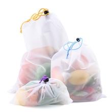 5 шт красочные многоразовые сумки для фруктов и овощей, сетчатые сумки, моющиеся сумки для кухни, сумки для хранения, игрушки, разное