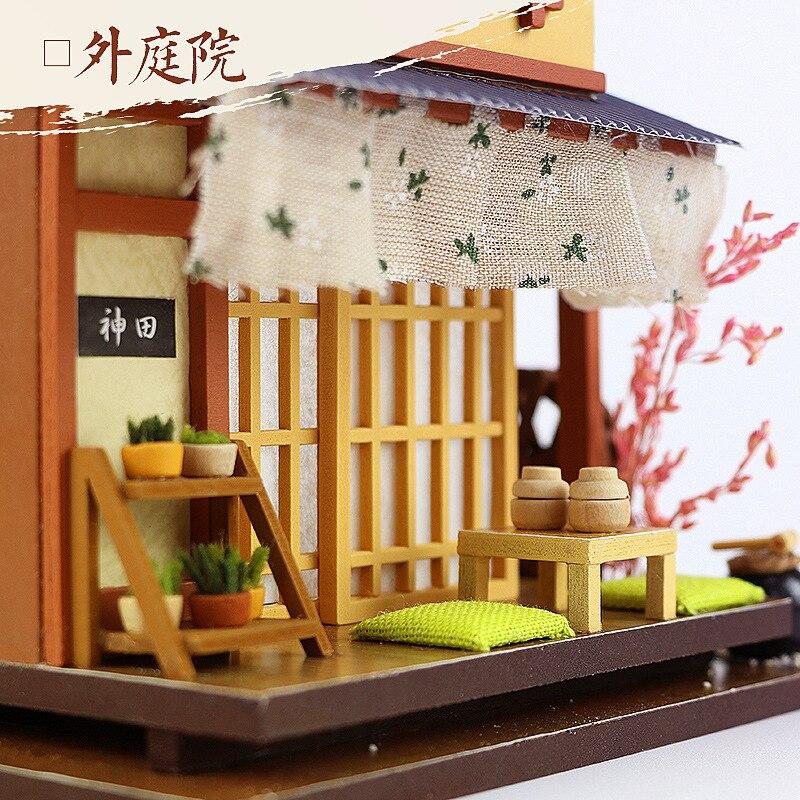 Hoomeda-diy DIY Hut Japanese Style Architecture Handmade Creative Villa Loft Assembled Adult Wood