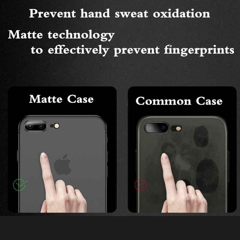 Mat Antichoc coque de téléphone Pour Apple iPhone 7 XR XS MAX 6S Mat PC étui pour iPhone X XS 5 5s SE 6 6s 7 8 Plus Couleur Bonbon coque iphone 7