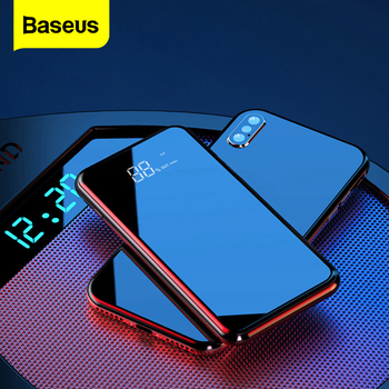 Baseus Portable Qi Wireless Charger Power Bank For iPhone 11 Xiaomi mi 8000mAh External Battery Fast Wireless Charging Powerbank