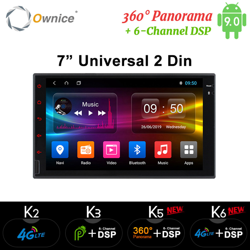 Ownice K1 K2 K3 K5 K6 <font><b>8</b></font> Core <font><b>Android</b></font> 4G RAM 32GB ROM Support 4G LTE Network Car GPS <font><b>2</b></font> <font><b>Din</b></font> Universal Car Radio DVD Player BY033 image