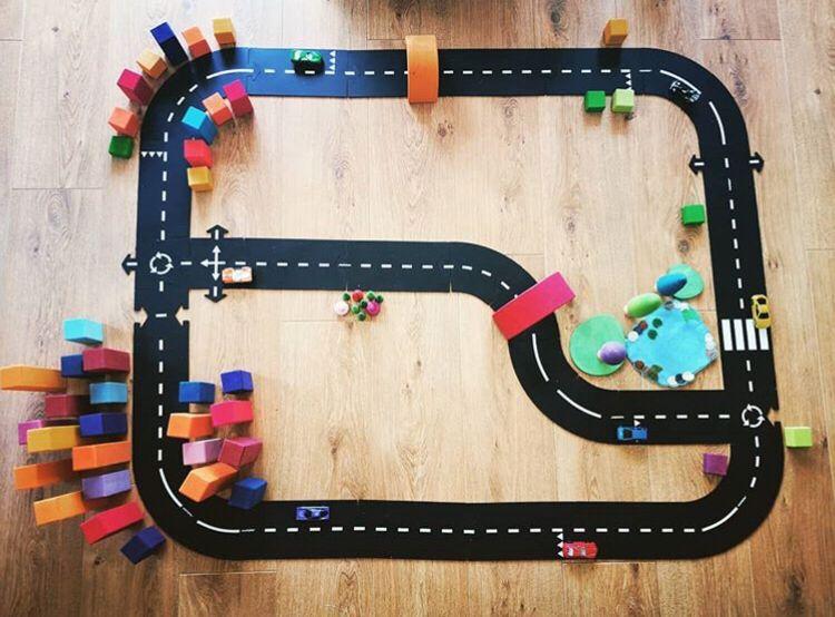 Diy crianças puzzels pista jogar brinquedos conjunto pvc emenda caminho estrada quebra-cabeça esteira diversão brinquedos educativos presente para meninas meninos jogos tapete