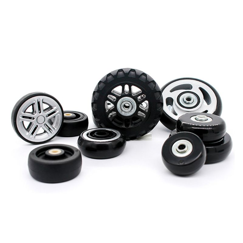 1 Pc Plastic Swivel Wheels Rotation Suitcase Replacement Casters Luggage Case Bag Parts Accessories