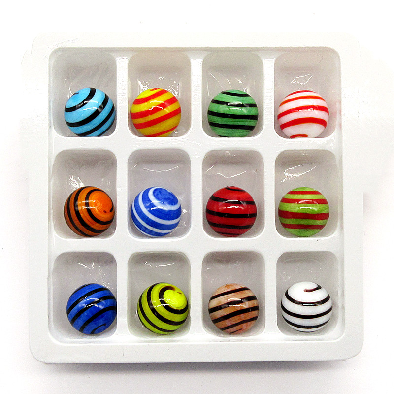 12PCS New 18mm Colorful handmade Glass Marbles balls Kids Marble Run Game Marble Solitaire Toy Vase filled Fish Tank Home Decor