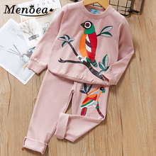 Winter Girls Clothing Sets 2016 New Active Boys Clothing Sets Children Clothing Cartoon Print Sweatshirts+Pants Suit